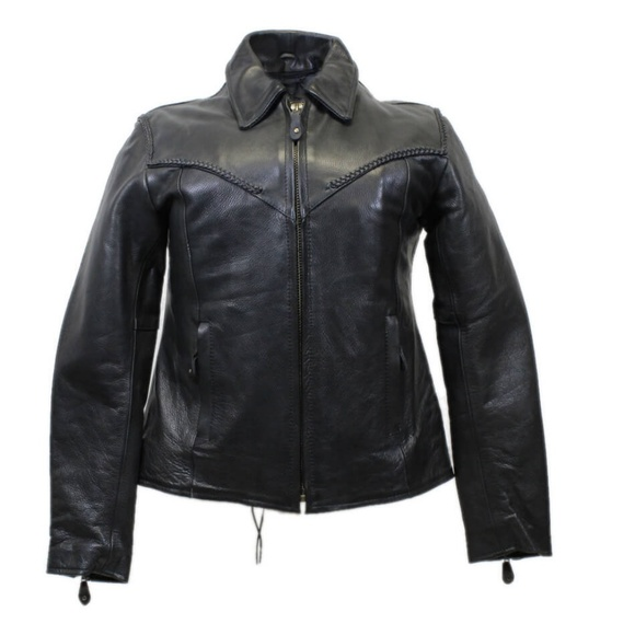 139cccb1d37 Ladies Biker Heavy Naked Cowhide Leather Jacket